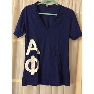 Alpha phi American apparel royal blue vneck